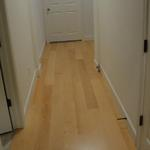 This is a pre-finished oak floor installed in the hallway.